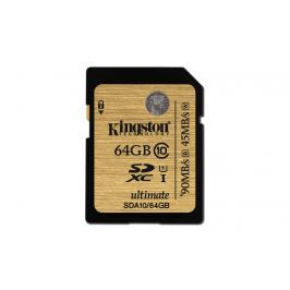 Kingston SDHC 64GB class 10 Ultimate (UHS I) (r90MB,w45MB) SDA10/64GB